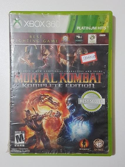 Mortal Kombat Komplete Original Com Defeito Para Xbox 360