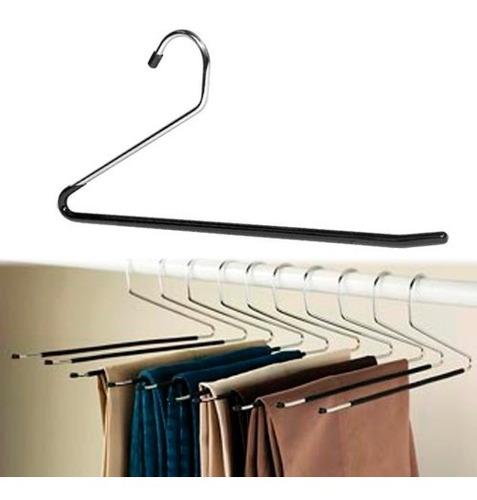 Perchas Para Pantalones Metal Reforzada Cromada Antideslizante 1 Calidad X 10 Unidades Mercado Libre