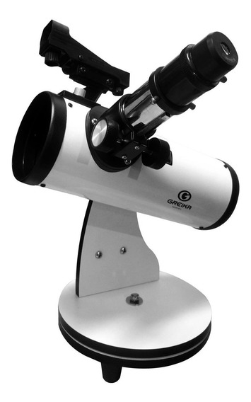 Telescópio Refletor Branco Distância Pinion 300mm Greika