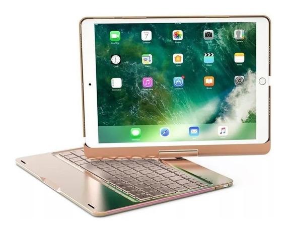 Capa Case Teclado iPad New 6 A1893 A1954 9.7 Rose +pel Vidro