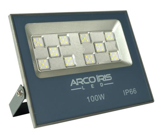 Refletor De Led Smd 100w Alta Iluminação Áreas Externas Ip66