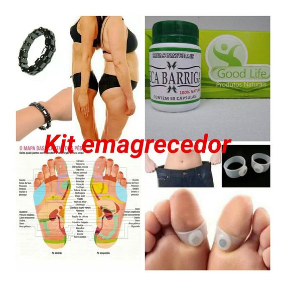 Kit Emagrecer-pulseira +anel Magnético (pé) + Seca Barriga
