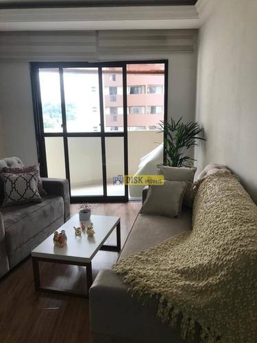 Apartamento Com 3 Dormitórios À Venda, 112 M² Por R$ 550.000,00 - Jardim Do Mar - São Bernardo Do Campo/sp - Ap0675