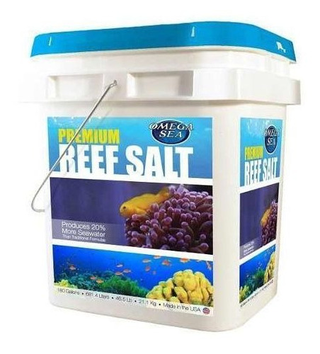 Reef Salt 21 ,1kg De 180 Galones  Para Acuarios De Arrecife