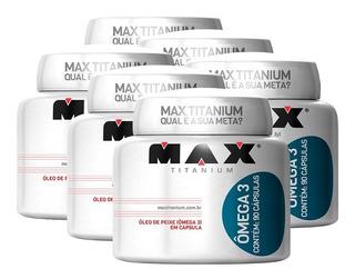 6x Omega 3 Óleo De Peixe 90caps Meg3 - Max Titanium