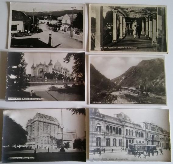 Seis Postales Antiguas De Argentina