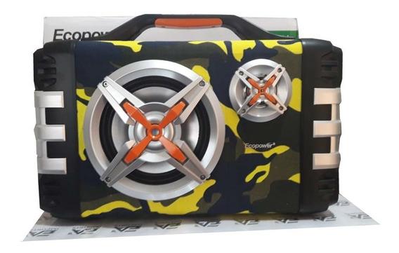 Caixa De Som Bluetooth Ecopower Super Potente + Microfone