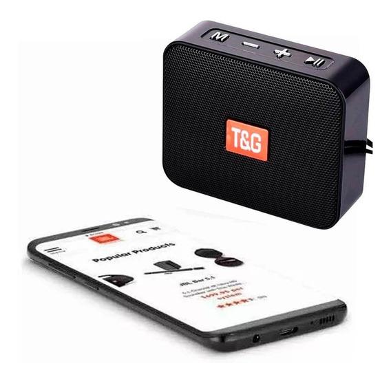 Caixinha Bluetooth Fm T&g Tg-166 Estilo Go 2