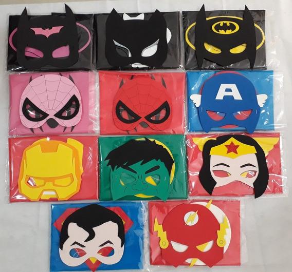 Capas + Antifaz De Super Héroes C/u$70 X10 $700
