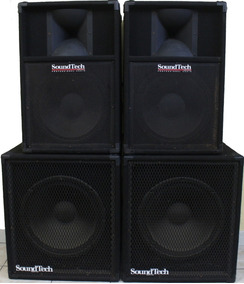 Kit 4 Cxs Soundtech-made Usa-ótima Oportunidade Em Belém-pa