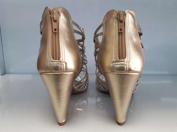 Sandália Dakota B6915 Dourada Altura Salto 10 Cm