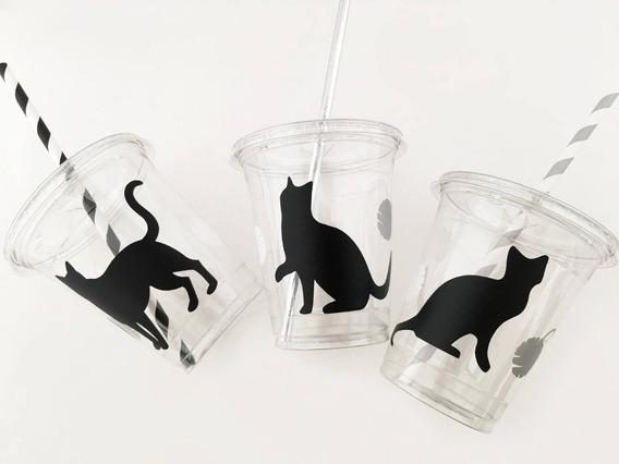 Vasos Gatos Con Sorpbete