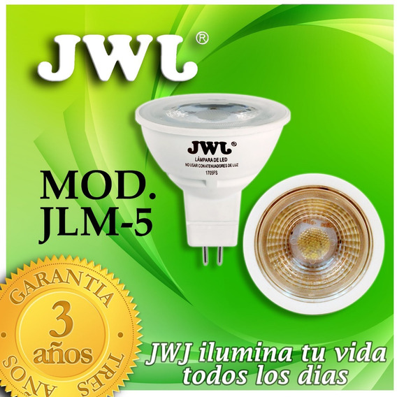 Foco Led Dicroico Mr16 Liso 5w - Luz Cálida Jwj