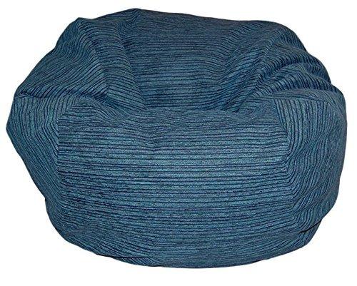 Ahh! Productos Chenille Stripe Lagoon Beanbag Bag Bag Chair,