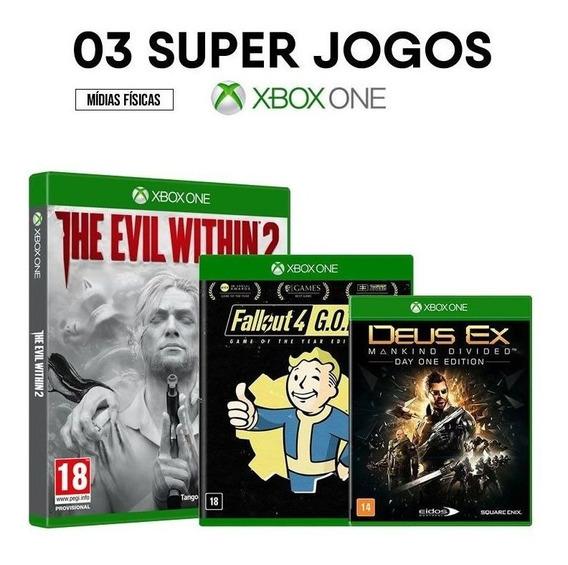 The Evil Within 2 + Fallout 4 + Deus Ex - Xbox One [ Novos ]