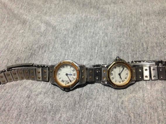 Relógio Cartier Em Ouro E Aço Fusionando