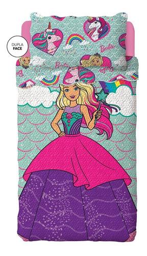 Colcha Infantil Bouti Barbie 2 Pçs Dupla Face-lepper