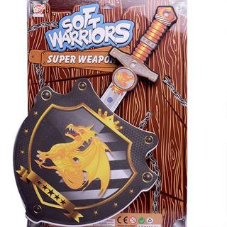 Escudo Y Espada De Goma Blanda Juego De Combate Dragon