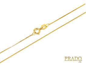 Corrente Cordão Colar Em Ouro 18k Veneziana 40cm