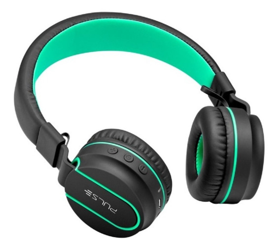 Fone Headphone Bluetooth Pulse Preto Verde Ph215 Multilaser