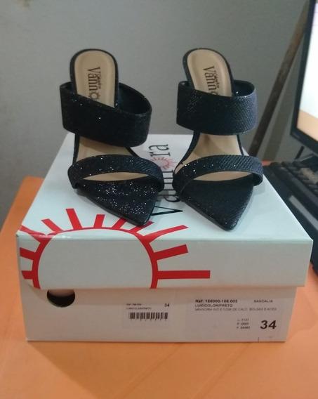 Vannora Calçados Sandália Lumicolor/preto