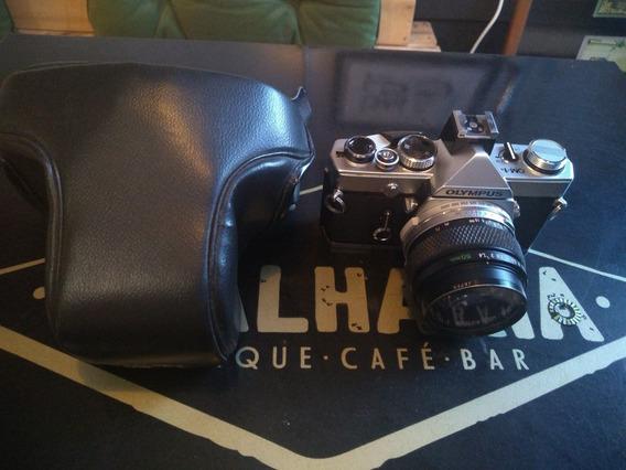Câmera 35mm Olympus Om-1n Com Lente 50mm 1.4