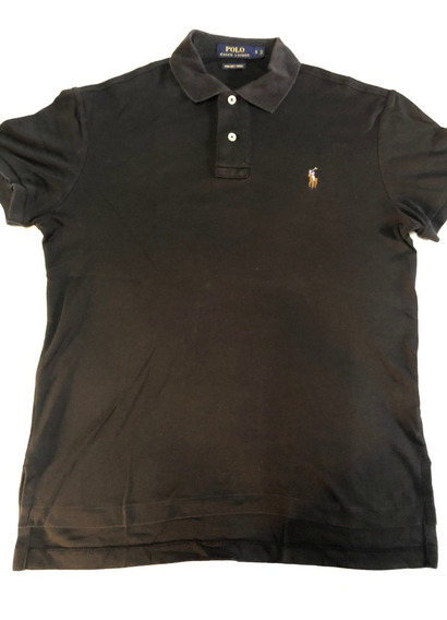 Polo Ralph Lauren Camisa Negra Caballo Blanco Small Pima S
