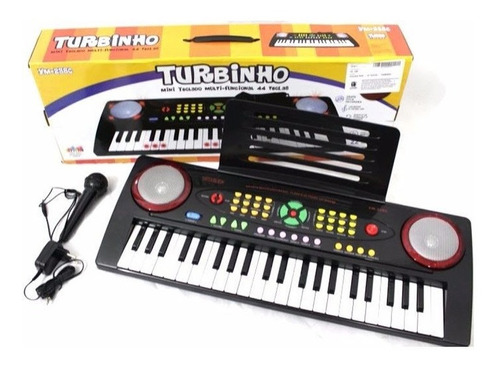 Teclado Mini Infantil 44 Teclas Turbinho Ym238c C/ Microfone