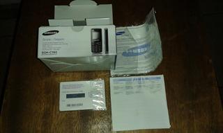 Caja De Celular Vacia Con Su Manual. Samsung Sgh-c 165