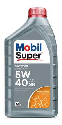 Imagen 1 de 2 de Aceite De Motor Mobil 1 Litros 5w40 Sintetico Mobil Super 5w