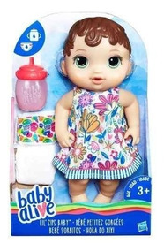 Boneca Baby Alive Morena Hora Do Xixi Hasbro - E0499