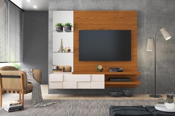Painel Para Tv Ate 50 Turim Rust Terrara/off White100%mdf(i)