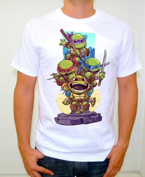 Ninja Turtles Playera Toon Chibi Art Tortugas Ninja 4turtles