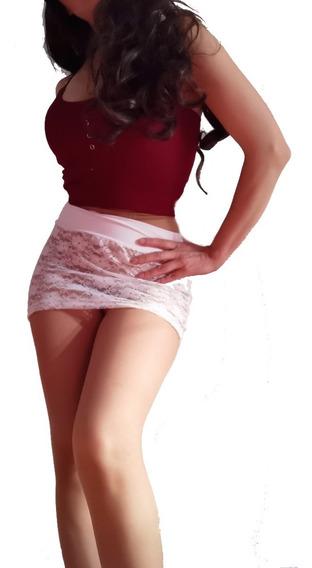 Mini Falda Super Sexy Blanca De Encaje + 1 Regalo Sorpresa.