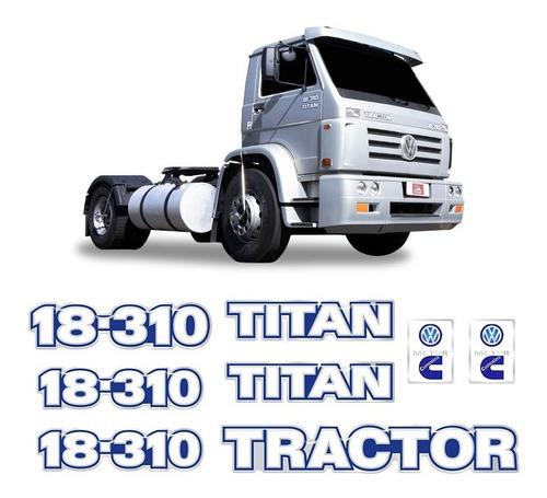 Imagem 1 de 5 de Kit Adesivo 18-310 Titan Tractor Caminhão Volkswagen Cummins