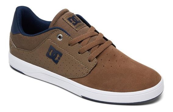 Zapatillas Dc Shoes Modelo Plaza Marron Azul! Coleccion 2019