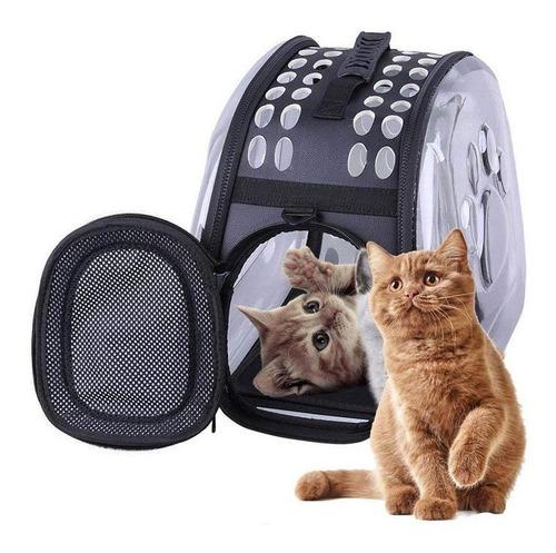 Porta Mascota Bolso Panoramico Perros Gatos 42x28x32cm P104