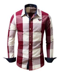 Camisas Xadrez Cowboy Manga Longa Masculina Pronta Entrega