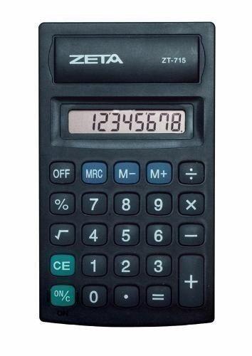 Calculadora De Bolso 8dígitos Zeta Pessoal 16136