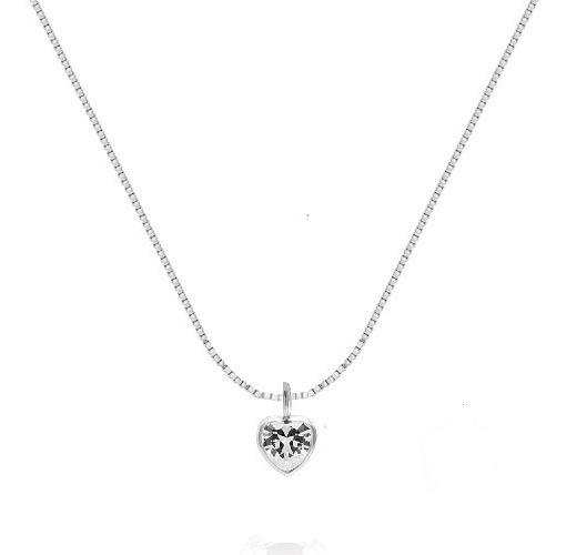 Colar Ponto De Luz Coleção Diamante Em Prata 925