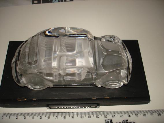 Vw Fusca Split Cristal Com Base De Madeira Germany 1/24