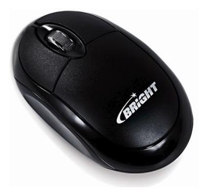 Lote 12 Mouses Bright Óptico Usb