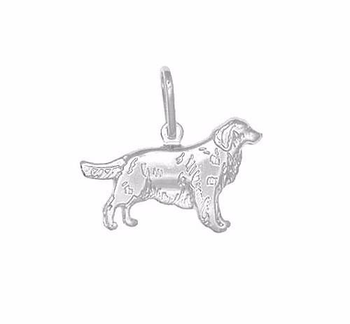 Pingente Cachorro Dog Golden Prata Pura 990 (não É Banhado)