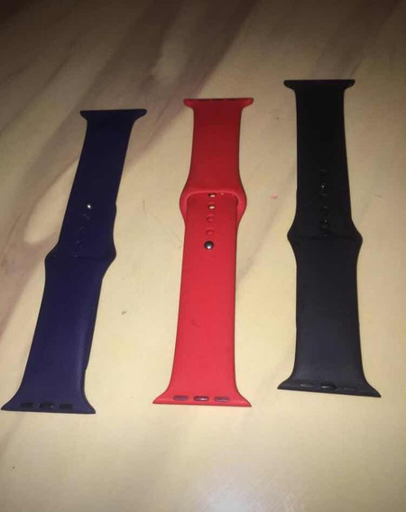 Correas Apple Watch 42 Mm Roja Azul Negra