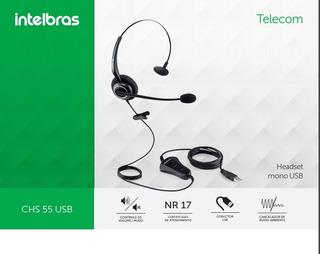 Headset Chs 55 Usb Intelbras