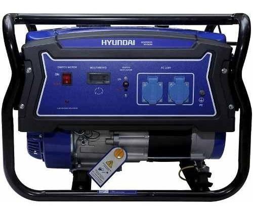 Generador Eléctrico Hyundai Gasolina Manual 2,5/2,8 Kw/kva