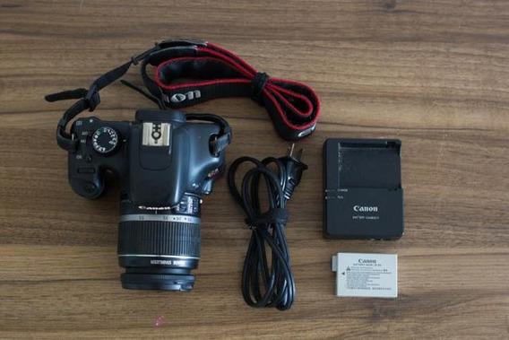 Camera Canon T21, +duas Baterias,carregador E Capa.