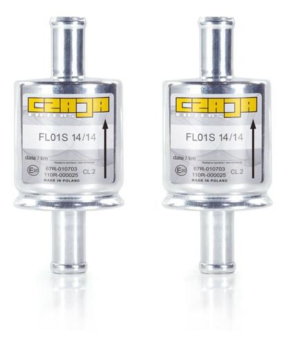 2 Filtros P/ Gnv Gás Natural Veícular 5ª Geração 14mm Czaja