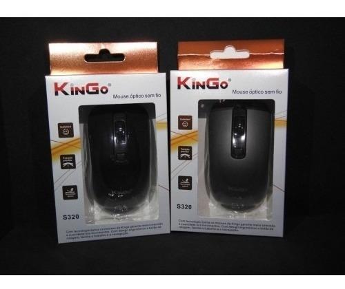 Mouse Óptico Sem Fio Kingo S320