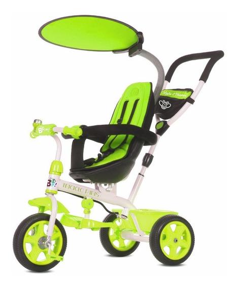 Triciclo Cochecito Bebes Asiento Reforzado Apoya Pies Techo